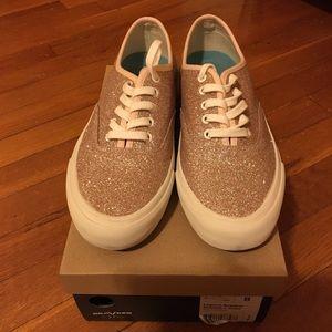 NIB SeaVees For J Crew Rose Gold Glitter Sneakers